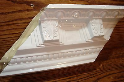 CORBEL Crown Molding  Inside/Outside Corner 2 Piece White Paintable * NEW