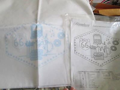 Herrschners Route 66 Table Runner & 4 Napkins Stamped Fabric For Cross Stitch-14