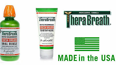 Therabreath Toothpaste Oral Rinse Against Dry Mouth Bad Breath Smell Solution