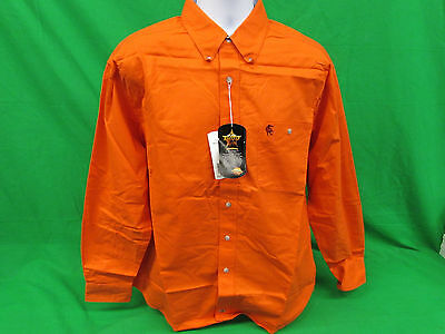 PBR Professional Bull Riders Orange Long sleeve Shirt sizes M, L XL & 2XL