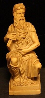 Vintage G Ruggeri Small Statue Moses Made In Italy Beautiful Toning Ornate-37T!