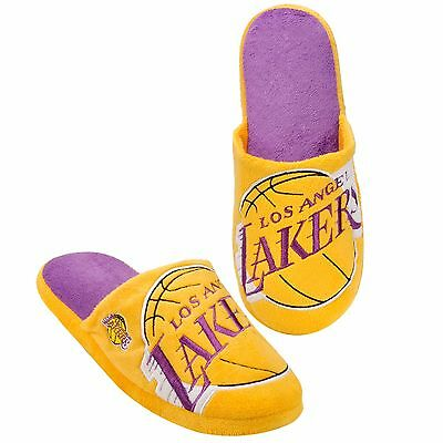 Los Angeles Lakers Big Logo SLIDE SLIPPERS New - FREE SHIPPING