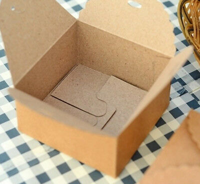 12PCS Kraft Paper Gift Box Party Wedding Square Box Wrap for Handmade Craft