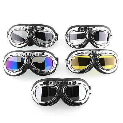 Vintage Motorcycle Motorbike Bike Cycle Scooter Aviator Cruiser Goggles Glasses