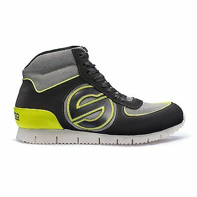 Sparco Genesis High Leisure Shoes / Boots - Black / Yellow - Size UK 8 / Euro 42