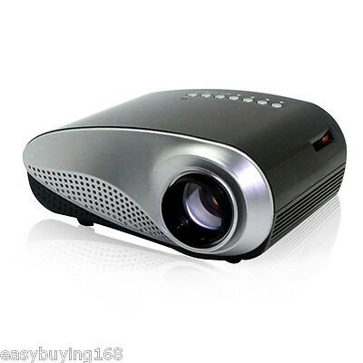 Home Theater Portable LED/ LCD Mini Proyector AV USB VGA HDMI SD Streaming Negro