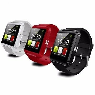 U8 Bluetooth Smart Wrist Watch Phone Mate For IOS Android Samsung iPhone HTC Red