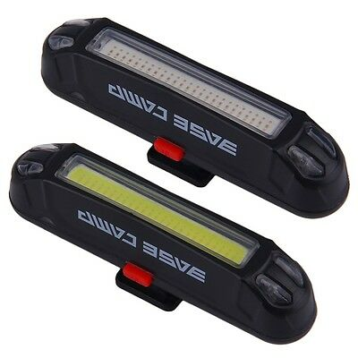 Bicycle Bike Head Front Rear Tail LED Light USB Rechargeable 100 Lumens+ GT