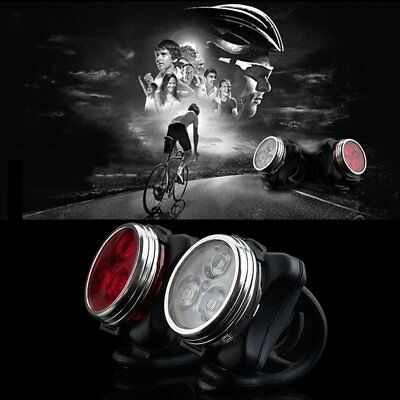 Bicycle Bike 3 LED 4 Modes Head Front Rear Tail Light Lamp USB Rechargeable GT