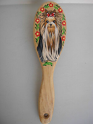 Yorkshire Terrier Handpainted Hair Brush -03