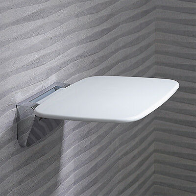 Roper Rhodes Bathroom Shower Seat Fold Away Modern Compact Thermoset White 8020