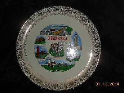 Nebraska  Collector Plate With Hanger Attached