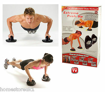 ROTATING PUSH UP BARS Handles Press Ups Bar Home Gym Stands Workout Chest Arms