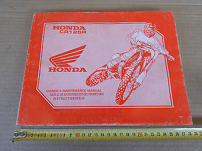 Honda Cr 125 1991 Manuale Tecnico Multi Language Etc Manual Cross