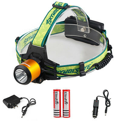 Rechargeable Tactical Cree Led Headlight Head Lamp Flashlight 4000LM XML + 18650