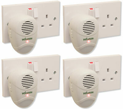 4 x Plug-In Mouse/Rat/Rodent Repeller Ultrasonic Repellent Pest Deterrent