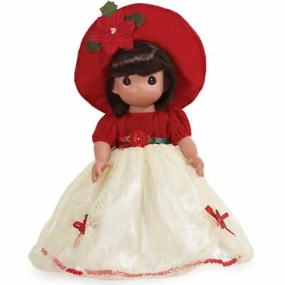 Precious Moments 16 Inch Doll, Most Wonderful Time Of The Year, Brunette, 1227
