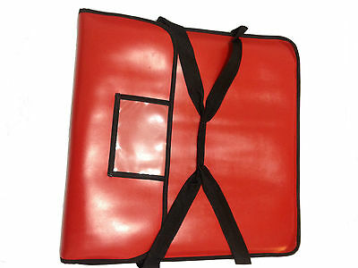 """Pizza Delivery Bag  Heavy duty Insulated extra Strong vinyl 22"""" Professional"""