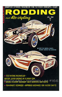 New Hot Rod Poster 11x17 Ed Roth Rodding and Re-styling Beatnik Bandit Cover