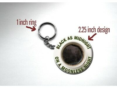 "Twin Peaks Black Coffee Poster Quote Moonless Night 2.25"" Key Chain"