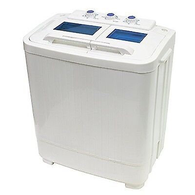 Portable Compact Washer and Spin Dry Cycle with Built in Pump (33L Washer & 1...