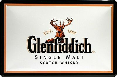 GLENFIDDICH SINGLE MALT SCOTCH WHISKY WISKEY BLECHSCHILD 20x30 TIN SIGN 678