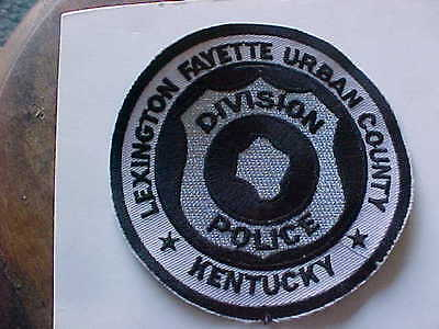 united states police patch subdued lexington fayette urban county kentucky