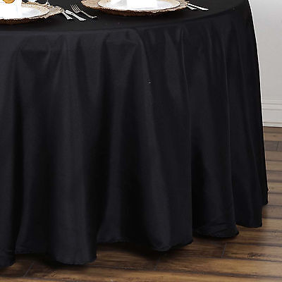 "10 BLACK 90"" ROUND POLYESTER TABLECLOTHS Wholesale Discounted Wedding Supplies"