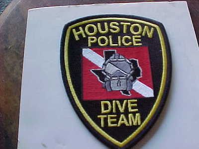 united states police patch  houston police dive team free shipping
