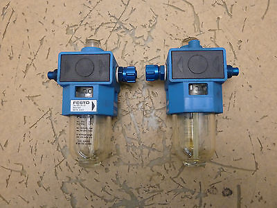 Lot of 2 Festo Pneumatic LOE-1/4-S-B Air Line Lubricator [15J]