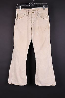 Vtg 70S Lee Leens Bootcut Bellbottom Flare Corduroy Pants Usa Womens 29-28