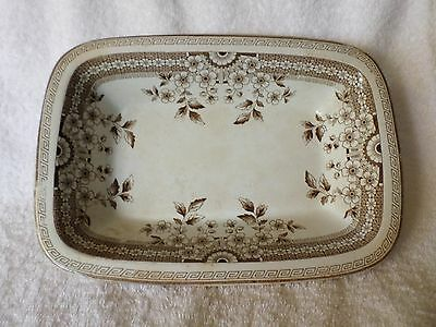 Antique Foley AF & Co OPEN VEGETABLE BOWL Brown Aesthetic Staffordshire Crown 20