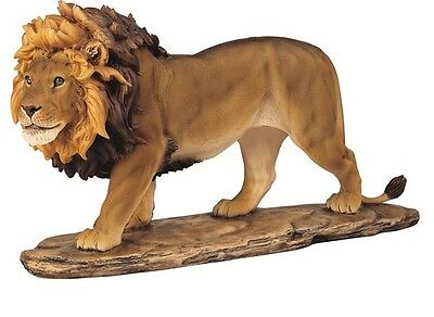 "15.5"" Lion Statue Collectible Wild Cat Animal Figurine Sculpture"
