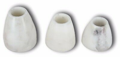 Handmade Marble Tealight Candle Holder Set with 3 Holders for Candles