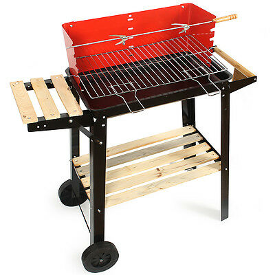 BBQ Grill Trolley Charcoal Barbecue Patio Outdoor Garden Party Camping Picnic