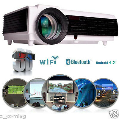 3500LM HD LED96 Wifi Projector 3D LCD Smart Home Theater TV HDMI 1080P Wholesale