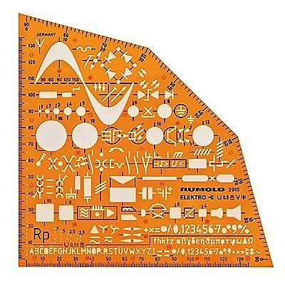 Electrical and Electronic Installation Symbols Drawing Template Stencil - - Plan