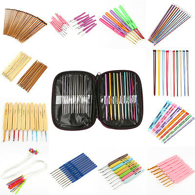 Knitting and Crocheting Needle Sets Multi-Color Various Multiple-Size 6H9