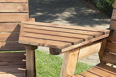UKG Heavy Duty Wooden Tray Table UK Made To Use With A Garden Bench or Chairs