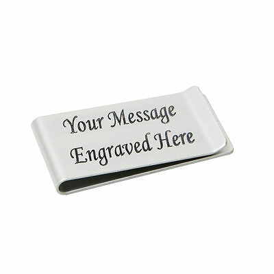 Mens Personalised Money Clip Engraved Gift Wedding Favour Groomsman Any Name UK