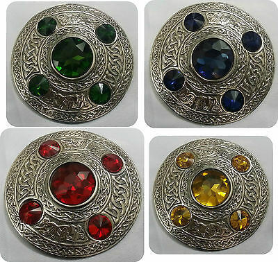 New Celtic Brooches Various Stones Antique Finish/Sash Brooch/Fly Plaid Brooches