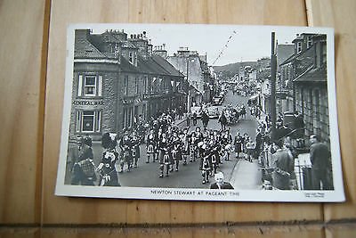 Vintage Newton Stewart At Pageant Time Wigtownshire Postcard