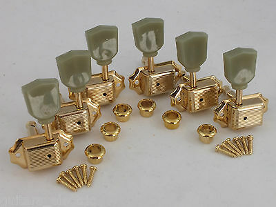 VINTAGE MACHINE HEADS GOLD 3 a-side TUNERS for Gibson Style guitars