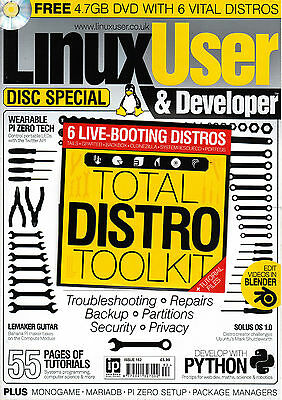 LINUX USER & Developer #162 + TOTAL DISTRO TOOLKIT DISC with 6 DISTROS @NEW@