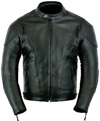 Impact Motorbike Leather Jacket Motorcycle Protection CE Armour