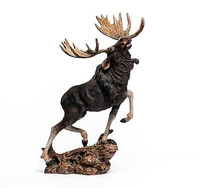 Moose Resin Figurine 10 Inch Wildlife Statue 931