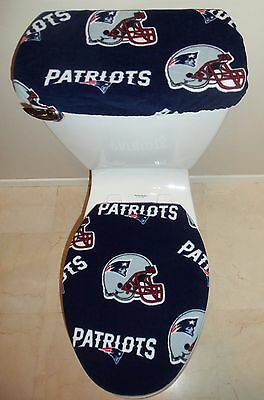 NFL NEW ENGLAND PATRIOTS Toilet Seat Cover Set Bathroom Accessories