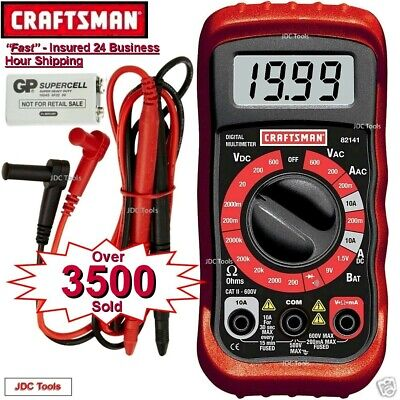 Craftsman Digital Multimeter with 8 Functions and 20 Ranges 34-82141