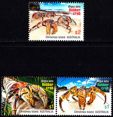 Christmas Island 2016 Robber Crabs Complete Set of Stamps MNH