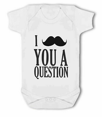 I Moustache You A Question - Baby Vest